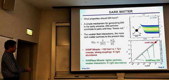 Professor Feng, UCI, talks about FASER new dark matter search at LHC (Source: Palmia Observatory)