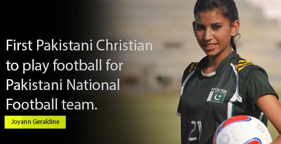 Joyann Geraldine Thomas First Pakistani Christian Female Soccer Player