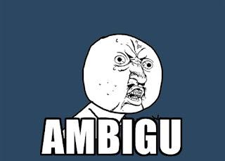 arti istilah ambigu, arti bahasa ambigu, arti kata ambigu adalah, arti frase ambigu, arti makna ambigu, arti kalimat ambigu, ambigu arti kata, arti ambigu di twitter, arti ambigu dalam bahasa indonesia