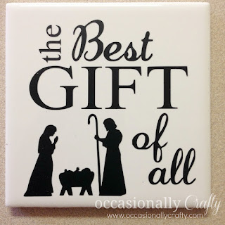 The Best Gift of All Vinyl Tile Christmas Gift Idea