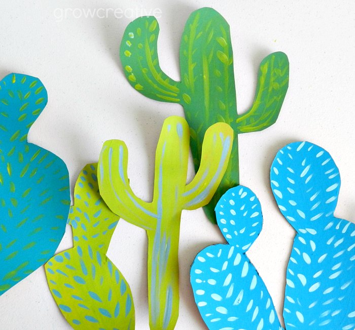 Cactus Party Decorations made from Cardboard: grow creative blog