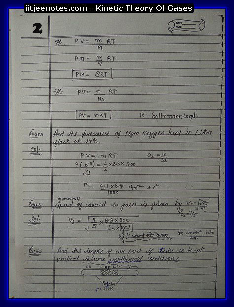Kinetic theory of gases IITJEE2
