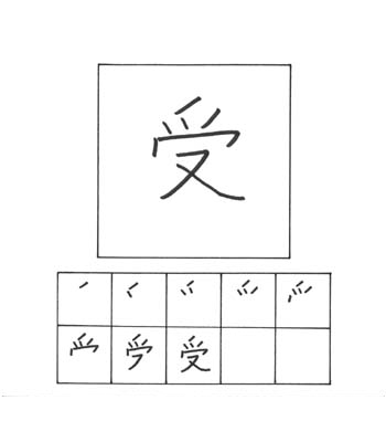 kanji menerima