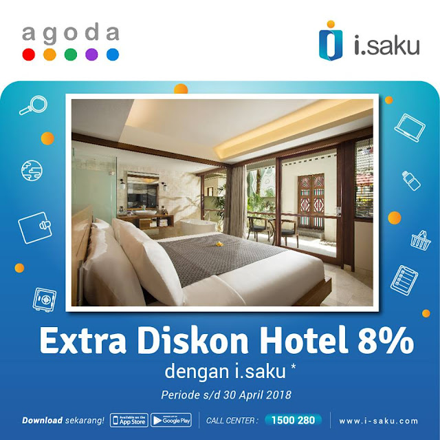 diskon 8% untuk pemesanan hotel di Agoda