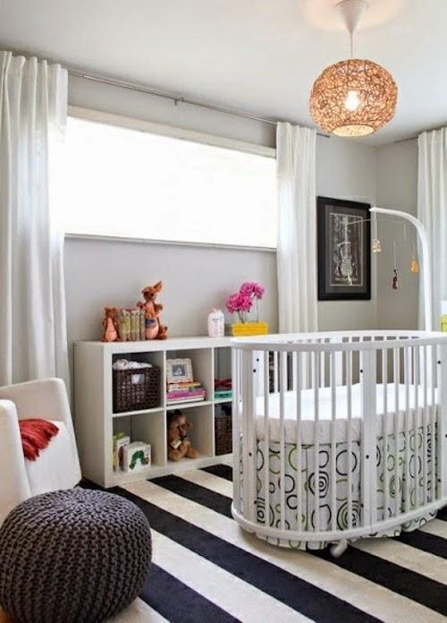 dormitorio bebé a rayas