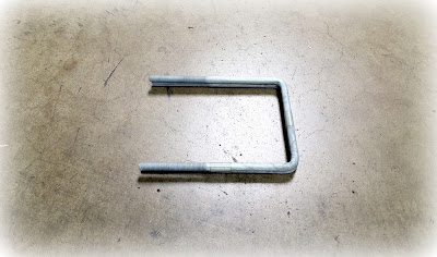 "Custom Galvanized Square Bent U Bolts - 3/8 X 7"" In A36 Galvanized Steel Material"