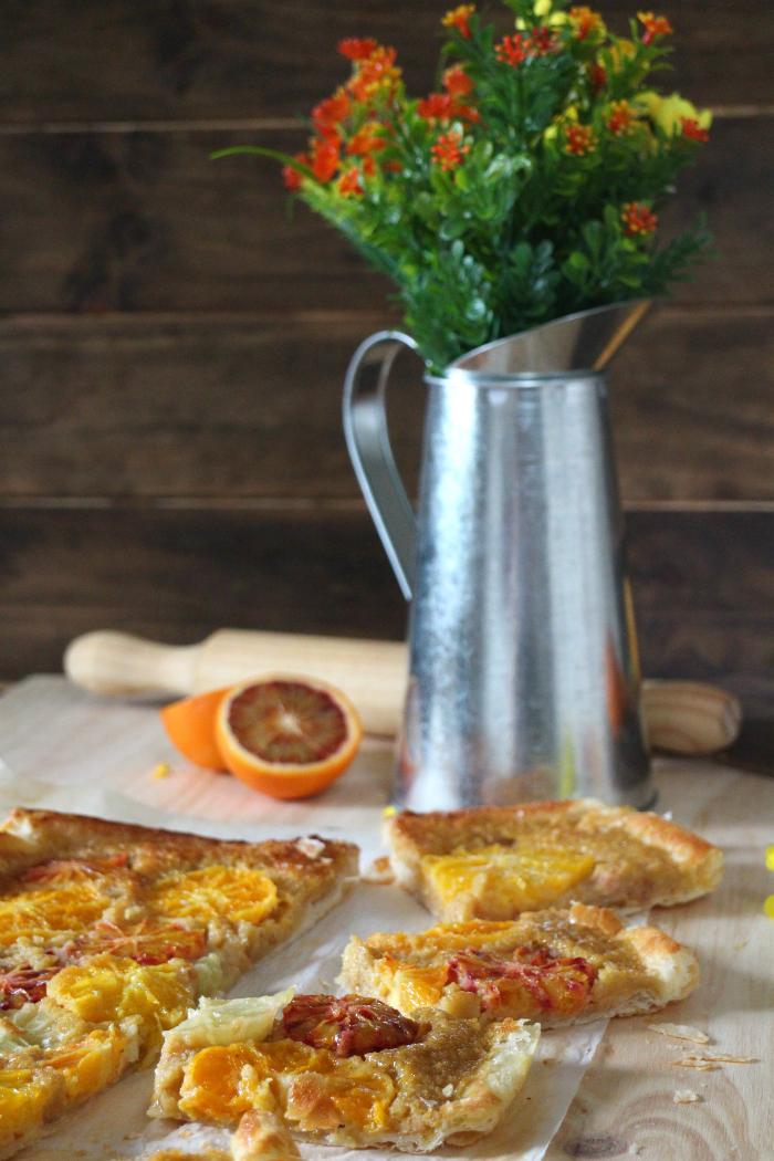 hojaldre-citricos, hojaldre, tarta-almendra, citricos