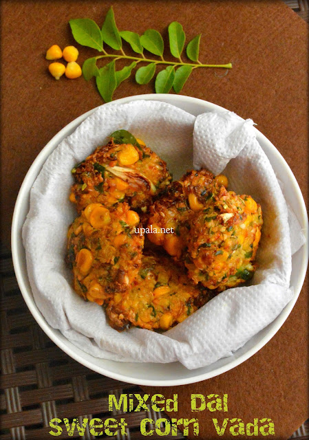 Mixed dal swet corn vada