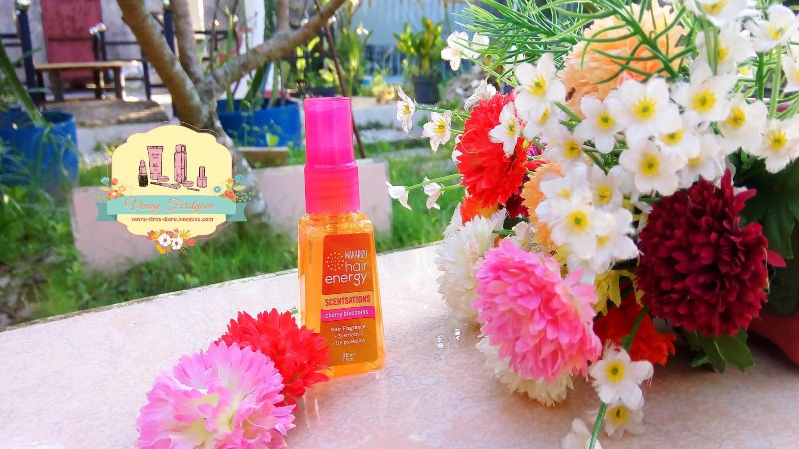 Review Makarizo Hair Energy Scentsations Cherry Blossoms Venny Scentsation 100ml Parfum Rambut