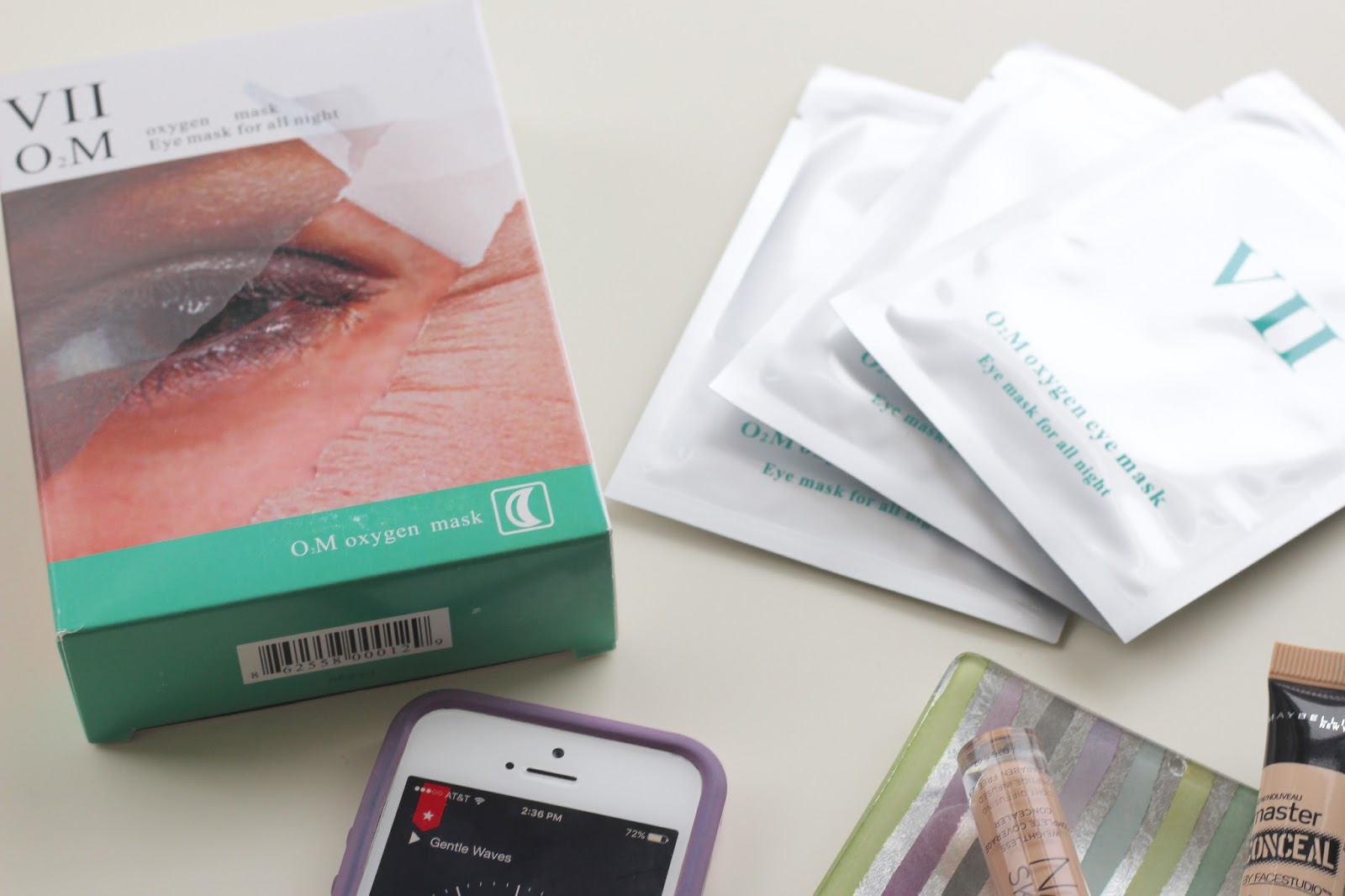 VIIcode O2M Oxygen Eye Mask Review | Blush and Fairy Dust Under Eye Bags, Dark Circles