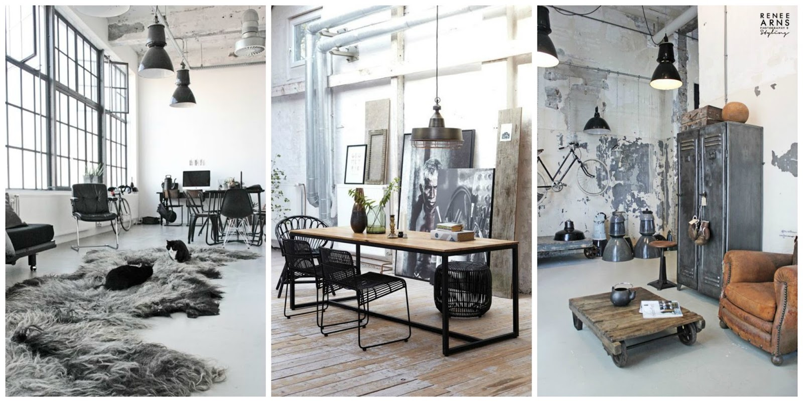Positively grey my industrial cottage home for Industrial office interior