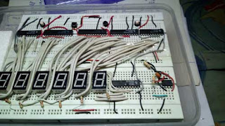 Digital Clock by using seven segment display