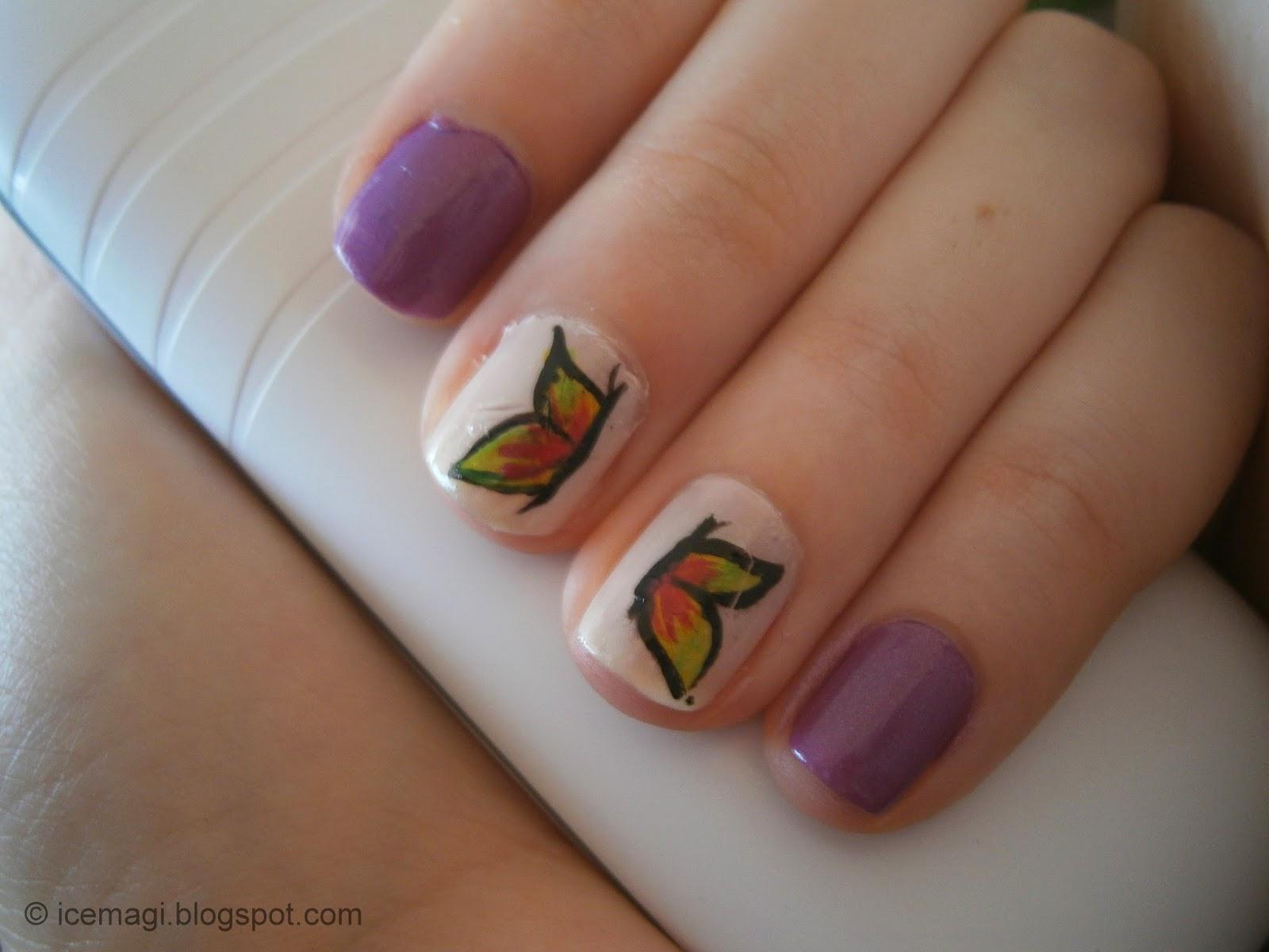 manicure butterflies