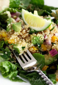 Delicious quinoa taco salad recipe at Gluten-Free Goddess.