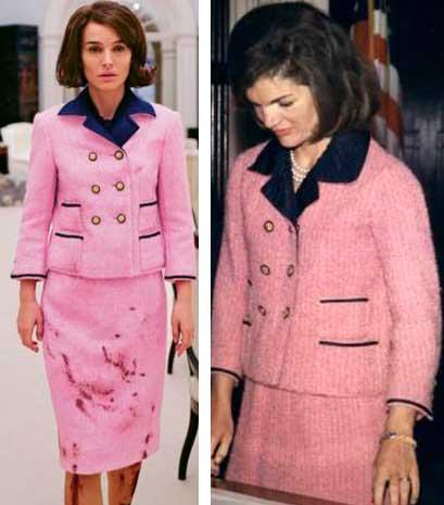 Jackie filme, look chanel rosa cena assassinato