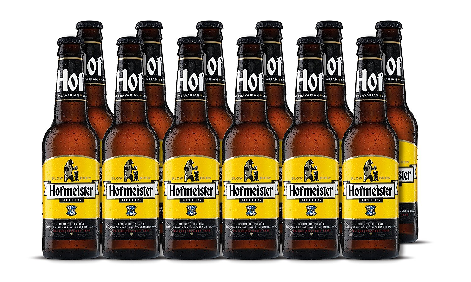 Bottles of Hofmeister Lager
