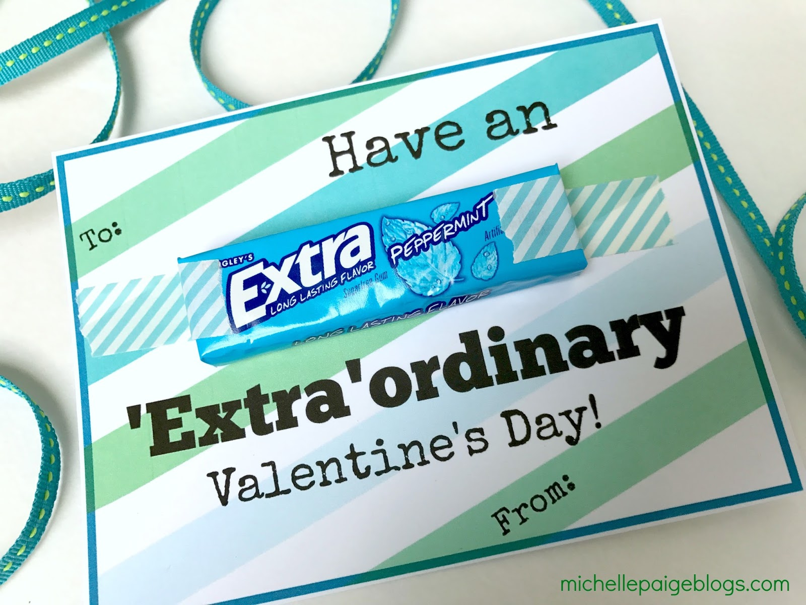It is a photo of Zany Extra Gum Valentine Printable