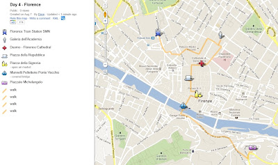 Day 4 in Florence, italy, map, google maps, duomo, michaelangelo, piazza
