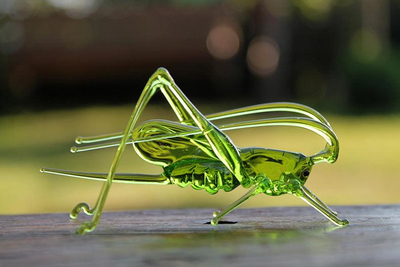 Flora y fauna con cristal soplado hecho a mano por 'Glass Symphony'