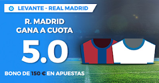 Paston Megacuota Liga Santander Levante vs Real Madrid 3 febrero