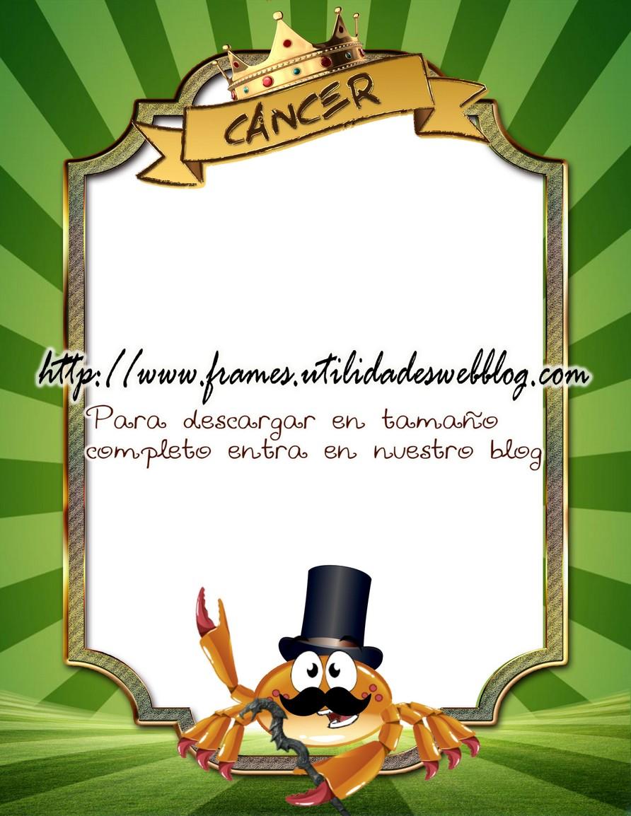 marco para fotos del día del padre signo cancer
