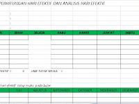 Perangkat Lengkap Administrasi Guru Sekolah Tahun 2016-2017 Format Excel Terbaru