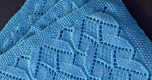 Daily Knitting Patterns Sand Dunes Baby Blanket