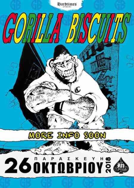 Gorilla Biscuits: Παρασκευή 26 Οκτωβρίου @ An Club
