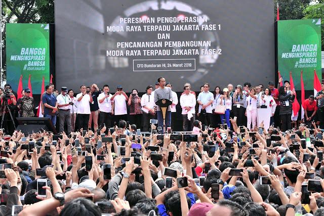 Peresmian MRT Pakai Kaos Oblong, Gerindra: Di Mana Revolusi Mental Jokowi?