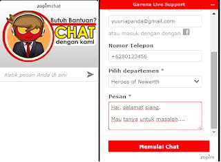 Cara Menghubungi Costumer Service (CS) Garena Indonesia