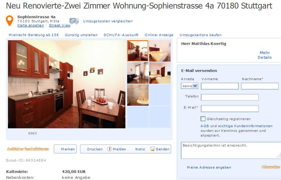 matthiaskoerrtiggmailcom alias Herr Matthias Koertig Neu RenovierteZwei Zimmer Wohnung