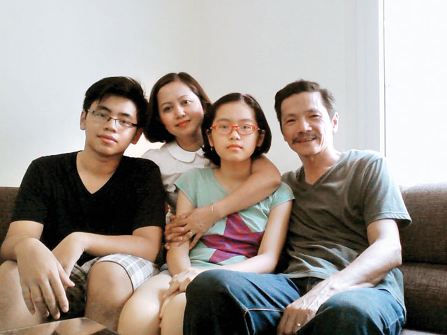Gia đình diễn viên Trung Anh.