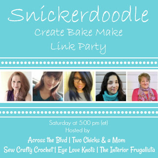 SNICKERDOODLE CREATE BAKE MAKE LINK PARTY--SATURDAYS AT 5 PM EST