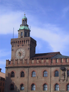 The bell tower of the Palazzo d'Accursio in  Bologna was one of Nadi's projects