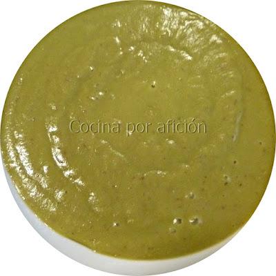 crema de guisantes con jamón