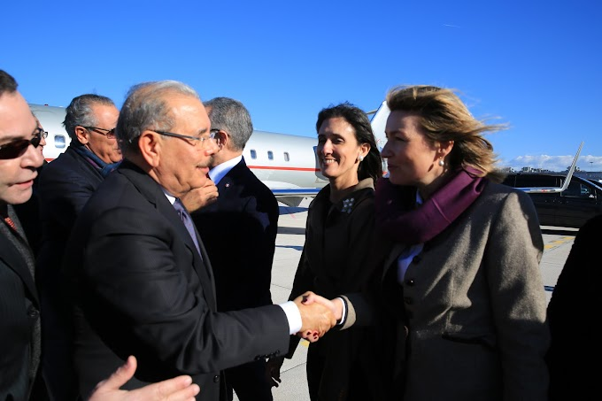 Presidente Danilo Medina llega a Roma, Italia. Agotará amplia agenda en marco de 42° sesión Consejo Gobernadores FIDA