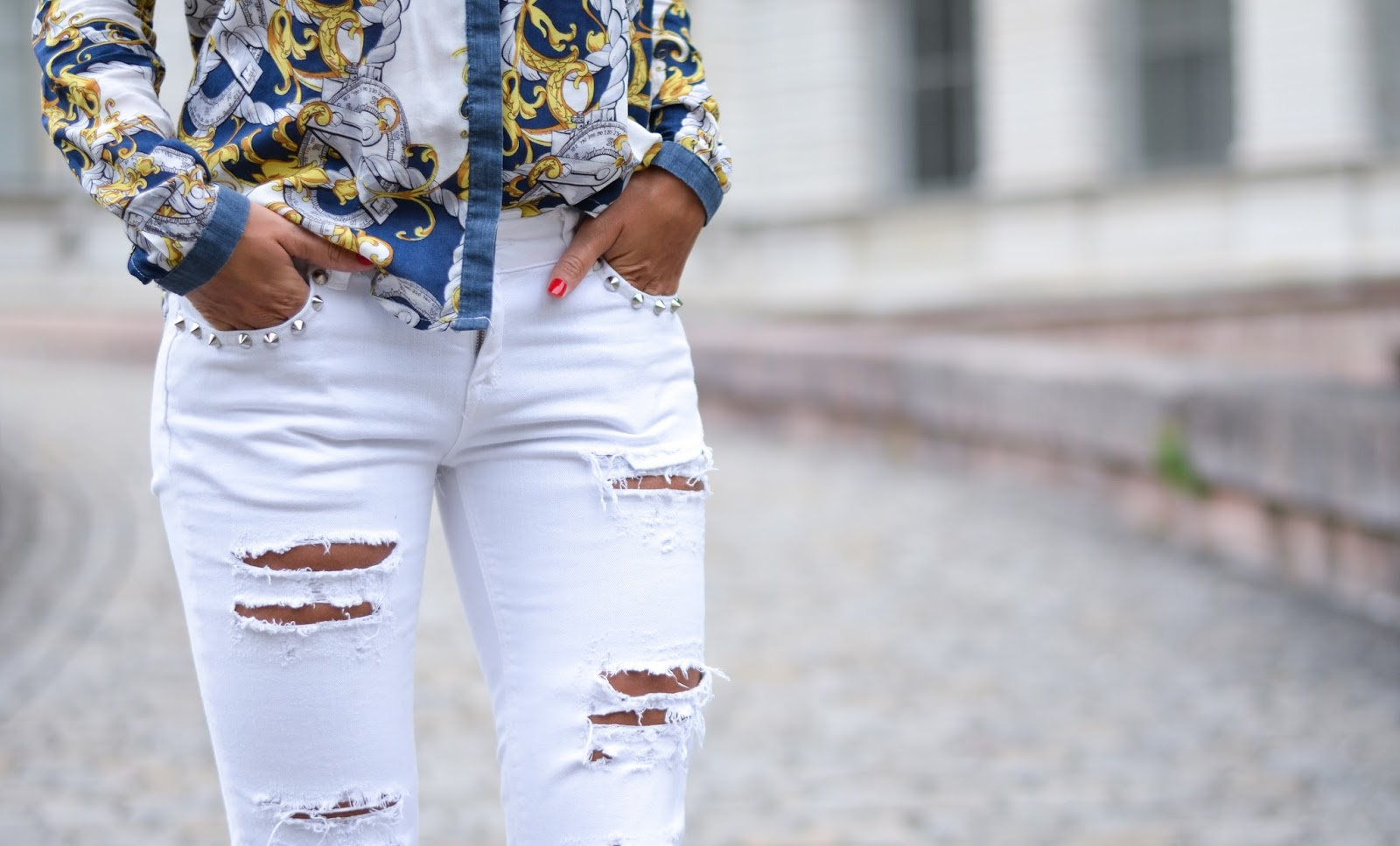kristjaana mere gina tricot ripped studded jeans