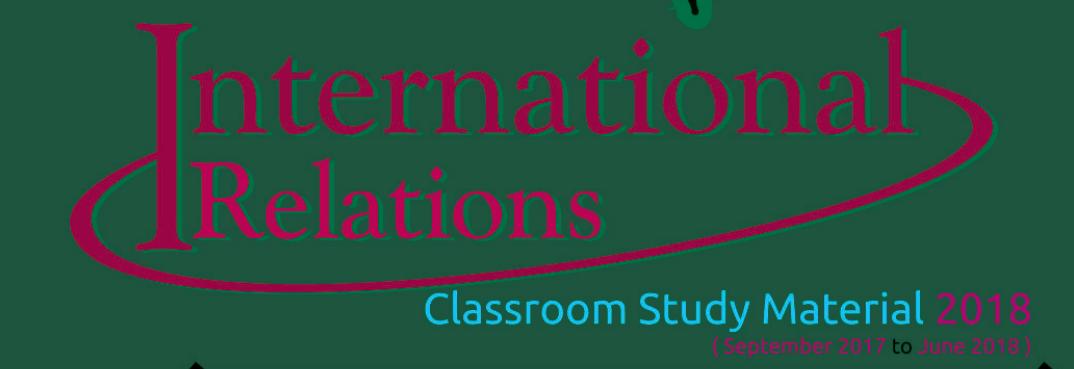 VISION IAS Mains 365 International Relations 2018 Pdf