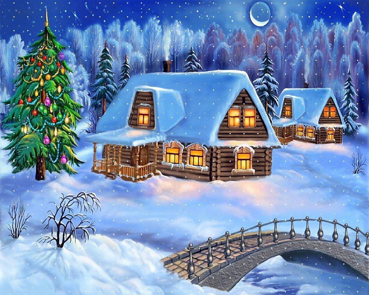 Fond ecran de noel paysage fonds d 39 cran hd for Wallpaper gratuit