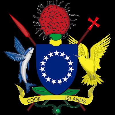 Coat of arms - Flags - Emblem - Logo Gambar Lambang, Simbol, Bendera Negara Kepulauan Cook