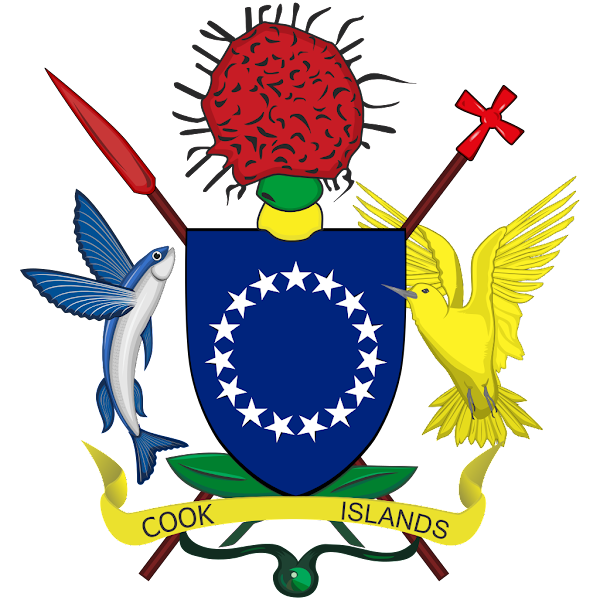 Logo Gambar Lambang Simbol Negara Kepulauan Cook PNG JPG ukuran 600 px