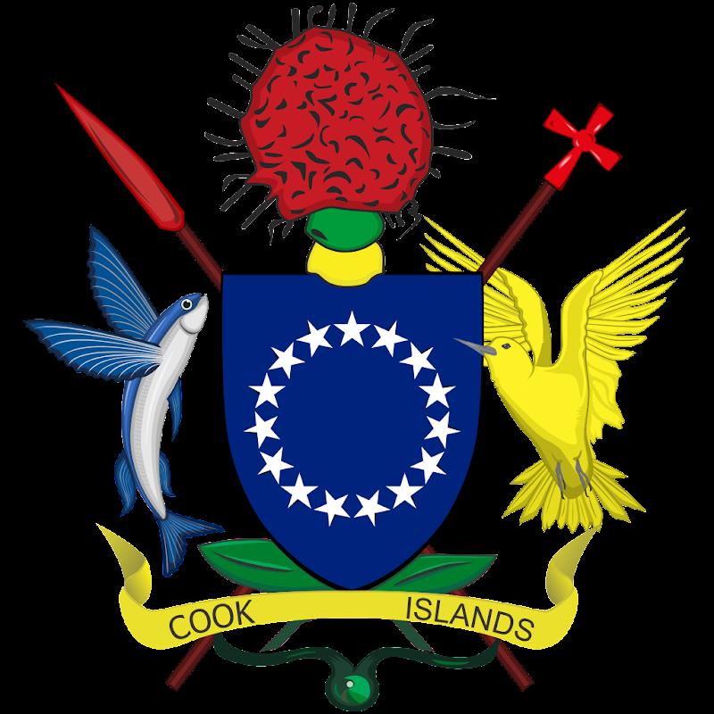Logo Gambar Lambang Simbol Negara Kepulauan Cook PNG JPG ukuran 800 px