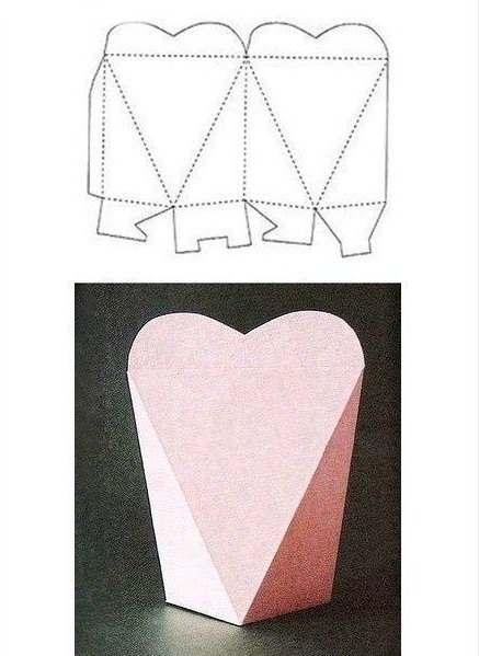Kotak kado lucu bentuk hati