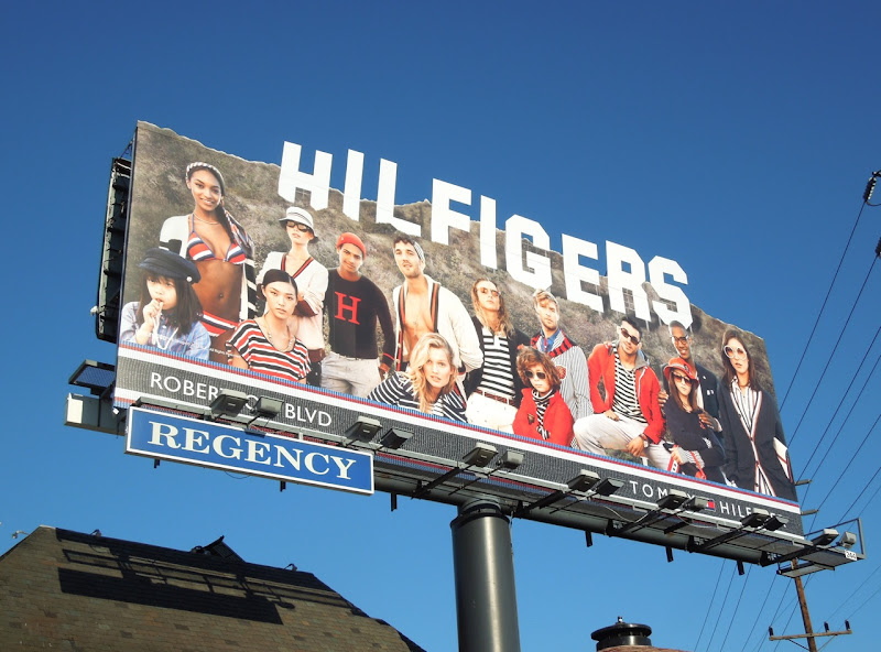 Hilfigers Hollywood Sign homage special extension billboard