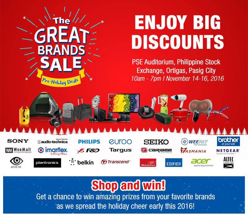 Great Brands Sale 2016 Announced, Enjoy Big Discounts And Freebies!