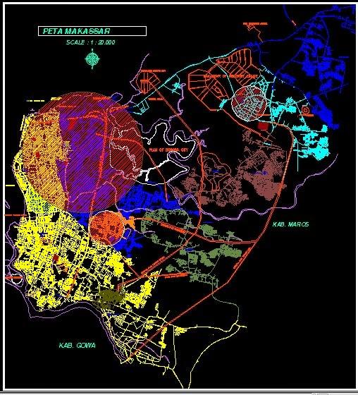 Download Peta Makasar DWG Gratis