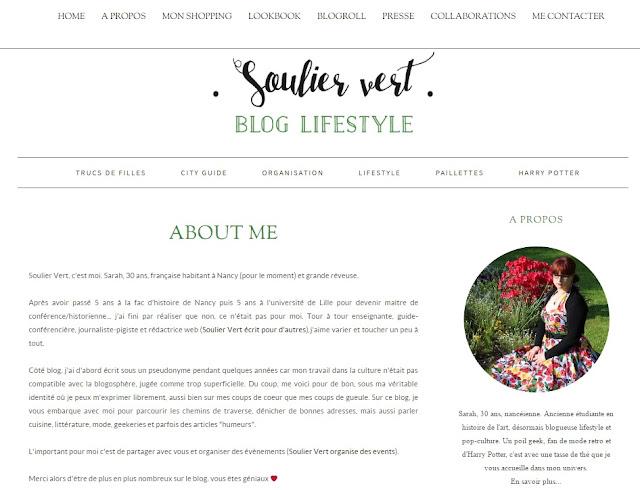 Blog Soulier Vert