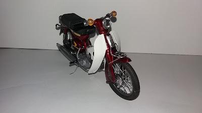 diecast miniatur motor bebek honda cub klasik kuno koleksi mainan hobi pajangan