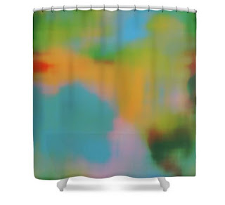 art by ricki_shower curtain_bathroom _modern home decor