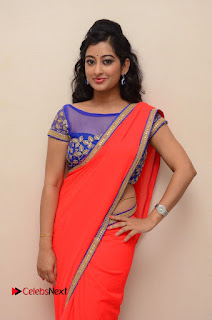 Actress Tejaswini Pictures in Saree at Pratikshanam Audio Launch  0011.JPG